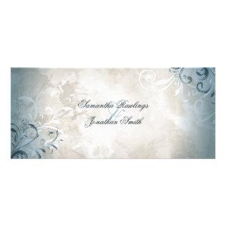 Programa do casamento - folha elegante & 10.16 x 22.86cm panfleto
