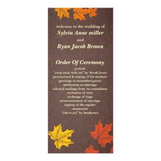 programa do casamento outono panfleto