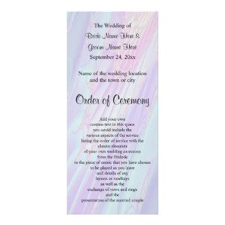 Programa do casamento, teste padrão do estilo do 10.16 x 22.86cm panfleto