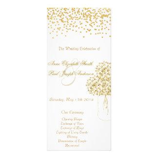 Programa do casamento vintage do frasco de 10.16 x 22.86cm panfleto
