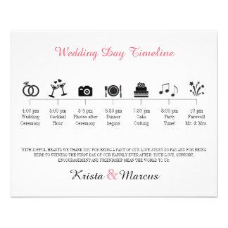 Programa do espaço temporal do casamento do ícone flyer