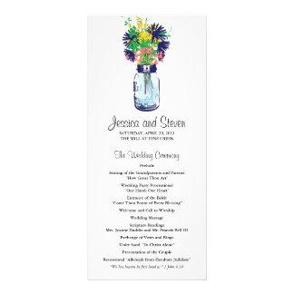 Programa do frasco e dos Wildflowers de pedreiro 10.16 X 22.86cm Panfleto