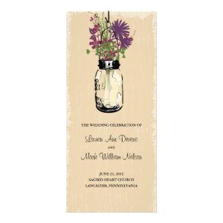 Programa do frasco e dos Wildflowers de pedreiro d 10.16 X 22.86cm Panfleto
