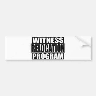 programa do internamento da testemunha adesivo para carro