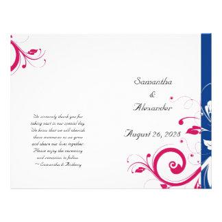 Programa dobrável dos azuis marinhos/redemoinho fú panfleto personalizados