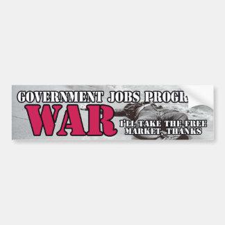 Programa dos trabalhos do governo: Guerra! Adesivo Para Carro