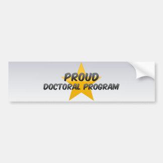 Programa doutoral orgulhoso adesivo