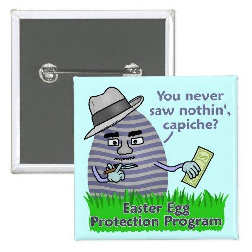 Programa engraçado da proteção do ovo da páscoa boton