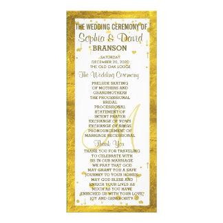 Programa feito sob encomenda dos confetes do 10.16 x 22.86cm panfleto