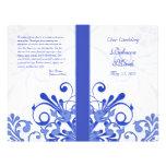 Programa floral abstrato do casamento do azul e do panfleto coloridos