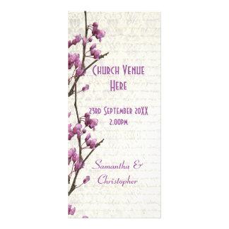 Programa floral do casamento da igreja do lilac 10.16 x 22.86cm panfleto
