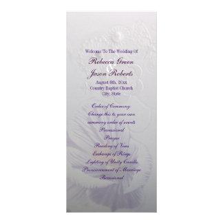 programa floral do casamento da orquídea roxa 10.16 x 22.86cm panfleto
