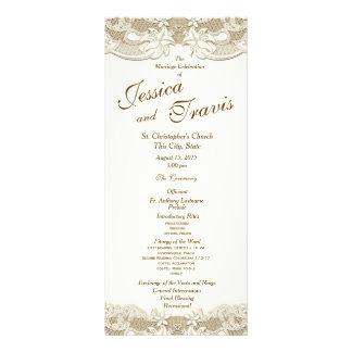 Programa floral do casamento de serapilheira da 10.16 x 22.86cm panfleto