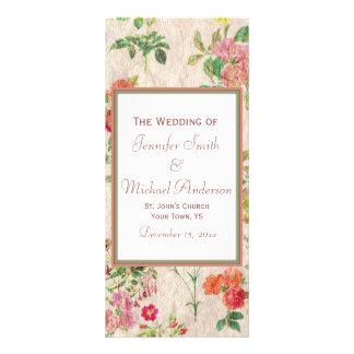 Programa floral do casamento do país 10.16 x 22.86cm panfleto