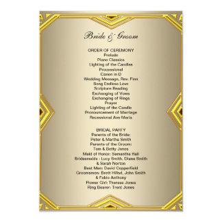 Programa formal do casamento convite 12.7 x 17.78cm