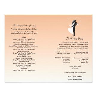 Programa formal do casamento da silhueta de Ombre  Modelos De Panfleto