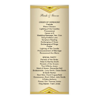 Programa formal do casamento por muito tempo convite 10.16 x 23.49cm