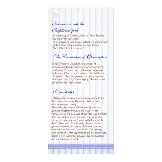 Programa grego do baptismo da igreja ortodoxa da p panfleto informativo personalizado