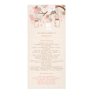 Programa ideal do casamento do verão 10.16 x 22.86cm panfleto
