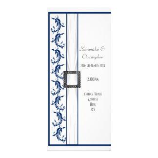 Programa liso do casamento da igreja dos azuis 10.16 x 22.86cm panfleto