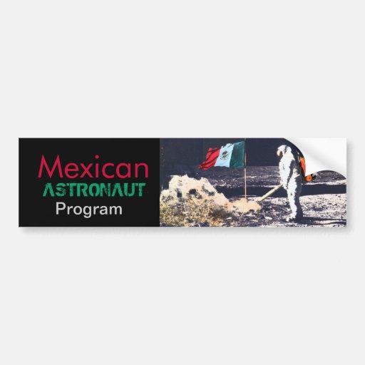 PROGRAMA MEXICANO do ASTRONAUTA - autocolante no v Adesivos
