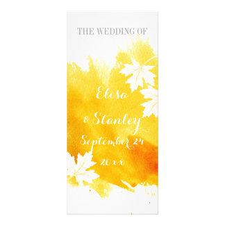 Programa moderno do casamento do amarelo do 10.16 x 22.86cm panfleto