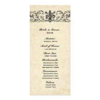 Programa preto do casamento de Fleur 10.16 X 22.86cm Panfleto