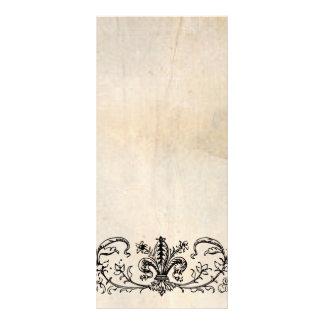 Programa preto do casamento do pergaminho de Fleur 10.16 X 22.86cm Panfleto