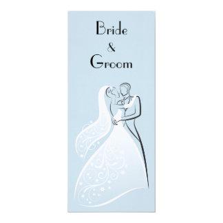 Programa retro azul dos dançarinos do casamento
