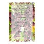 Programa roxo/verde do vinhedo da uva do vinhedo panfleto personalizados