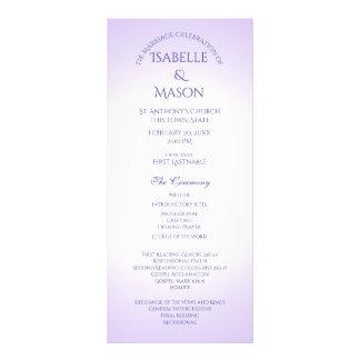Programa roxo violeta do casamento 10.16 x 22.86cm panfleto