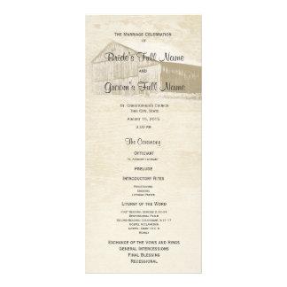 Programa rústico do casamento do celeiro do país 10.16 x 22.86cm panfleto