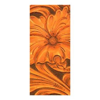 Programa rústico do casamento do país da flor 10.16 x 22.86cm panfleto