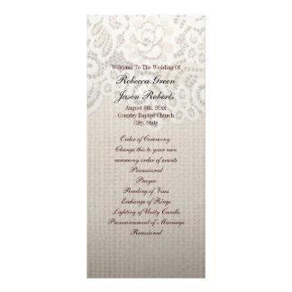 programa rústico do casamento do país do laço de 10.16 x 22.86cm panfleto