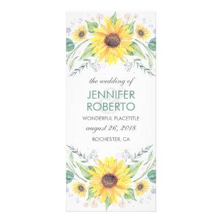 Programa rústico do casamento do país dos 10.16 x 22.86cm panfleto