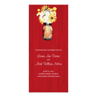 Programa rústico do frasco e dos Wildflowers de 10.16 X 22.86cm Panfleto
