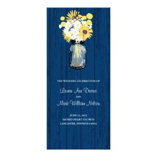 Programa rústico do frasco e dos Wildflowers de pe 10.16 X 22.86cm Panfleto