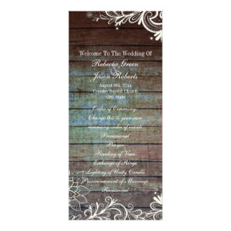 programa rústico moderno do casamento do laço do 10.16 x 22.86cm panfleto