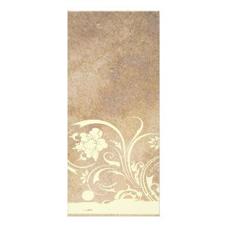 Programa velho do casamento do chique do pergaminh 10.16 x 22.86cm panfleto