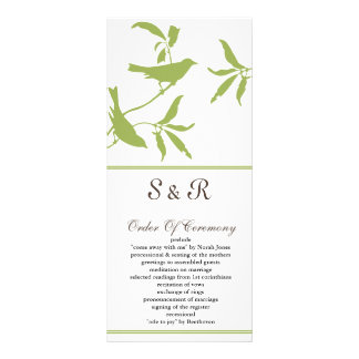 programa verde do casamento panfleto