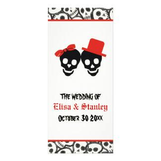 Programa vermelho do casamento do Dia das Bruxas 10.16 X 22.86cm Panfleto