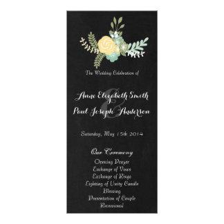 Programa VII floral & do quadro do casamento Panfleto
