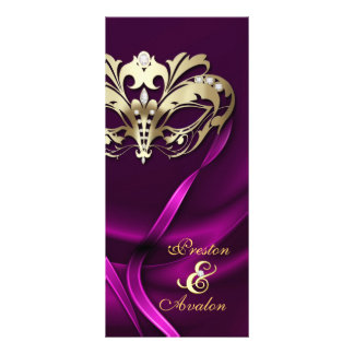 Programa Wedding Jeweled rosa do mascarada do ouro Panfletos Informativos Personalizados