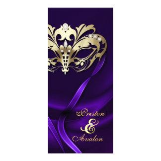 Programa Wedding Jeweled roxo do mascarada do ouro Modelos De Panfletos Informativos