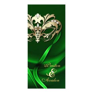 Programa Wedding Jeweled verde do mascarada do our Panfletos Informativos