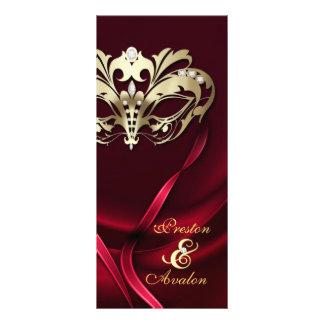 Programa Wedding Jeweled vermelho do mascarada do  10.16 X 22.86cm Panfleto