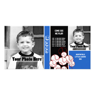 Programação do esporte do basebol cartão com foto