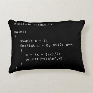 Programação numérica almofada decorativa