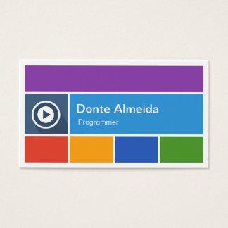 Programador - estilo liso moderno do metro cartão de visitas