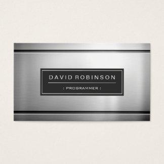 Programador - metal de prata superior cartão de visitas